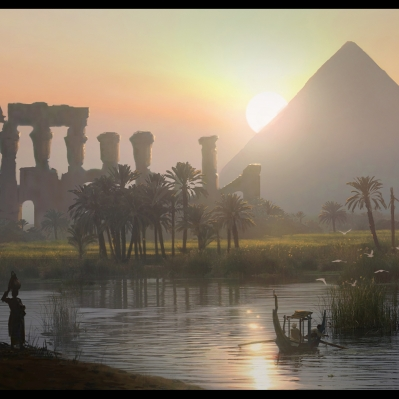 Pyramids by the Nile