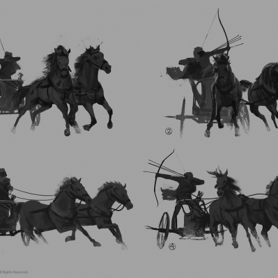 martin-deschambault-aco-bayek-iconic-pose-chariot-sketches-mdeschambault